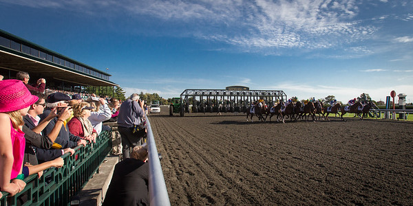 The start of the Dixiana Breeders Futurity (G1) at Keeneland on 10.06.2012.