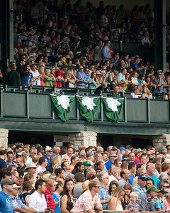 The large crowds at Keeneland before the rain came.