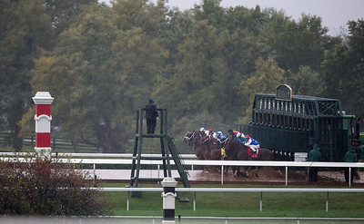 A rainy start of the Phoenix (G3) on opeing day of Keeneland