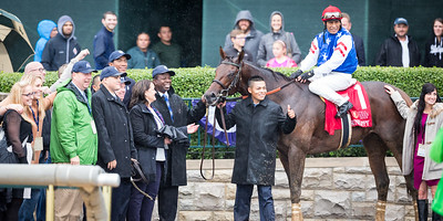 Runhappy (Super Saver) wins the Phoenix (G3) at Keeneland on 10-2-2015. Edgar Prado up, Maria Borell trainer, James McIngvale owner.