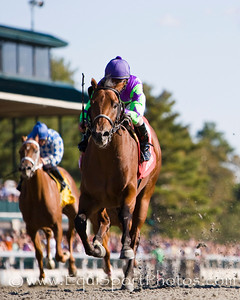 Big Push (Black Mambo), Robby Albarado up, wins an Allowance at Keeneland 10.18.2008mw ( Horse Racing Photos by EquiSport Photos )