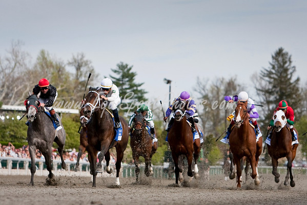 Advice (Chapel Royal), Garrett Gomez up, wins the Coolmore Lexington Stakes at Keeneland 4.18.2009 (EquiSport Photos)