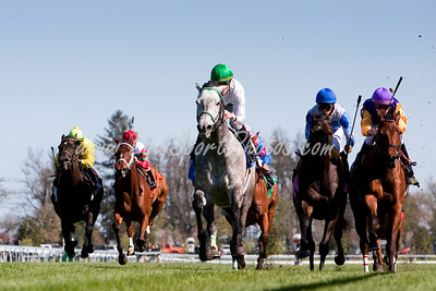 Forever Together (Belong To Me), Julien Leparoux up, wins the Jenny Wiley at Keeneland 4.11.2009 (EquiSport Photos)