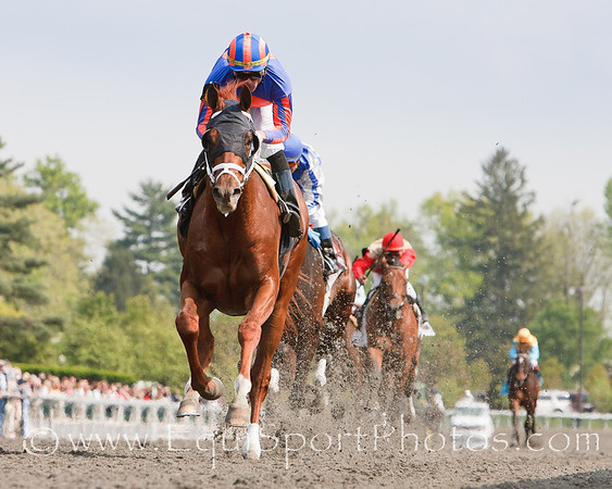 Marenzio (Giant's Causeway), Garrett Gomez up, wins a Maiden 3YO Race at Keeneland 4.22.2010