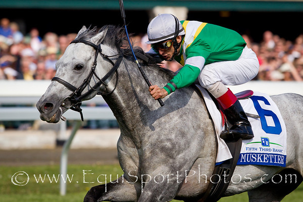Musketier (Acatenango), John Velazquez up, wins the Fifth Third Elkhorn S. at Keeneland 4.23.2010