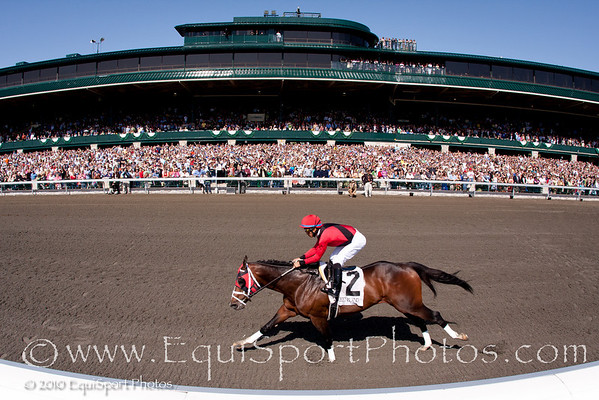 Forest Attack (Forestry), Alan Garcia up, wins an AOC at Keeneland 4.17.2010