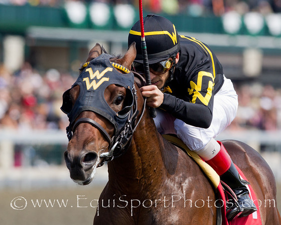 Metropolitan Man (Hook and Ladder), John Velazquez up, wins a 2YO Maiden at Keeneland 4.22.2010