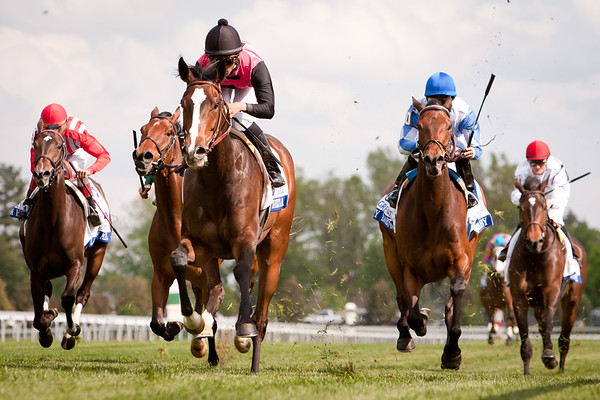 Keertana (Johar), Jose Lezcano up, wins the Bewitched Stakes at Keeneland 4.28.2011. Tom Proctor trainer, Barbara Hunter owner