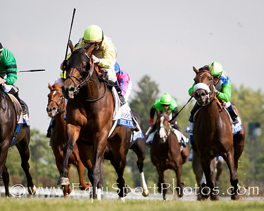 Upperline (Maria's Mon), James Graham up, wins the Bewitch S. (G3) at Keeneland 4.26.2012. Trainer: Michael Stidham, Owners: Stone Farm, John Adger, Oak Crest Farm, and Michael Stidham.