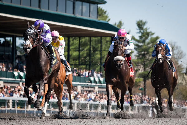 Handsome Mike (Scat Daddy) wins the Commonwealth Stakes (G3) at Keeneland on 4.13.2013.  Mario Gutierrez up, Doug O'Neill trainer Paul Reddam owner.