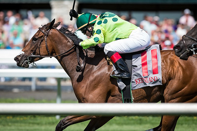 There's No Limit (Johannesburg), Rosie Napravnik up, wins an Allowance at Keeneland 4.18.2013. Trainer: Doug O'Neill, Owner: Andries Botha.