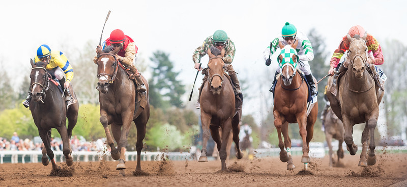 Deceptive Vision (A.P. Indy) wins the Doubledogdare (G3) at Keeneland on 4.17.2015. John Velazquez up, Malcolm Pierce trainer, Sam-Son Farm owner.