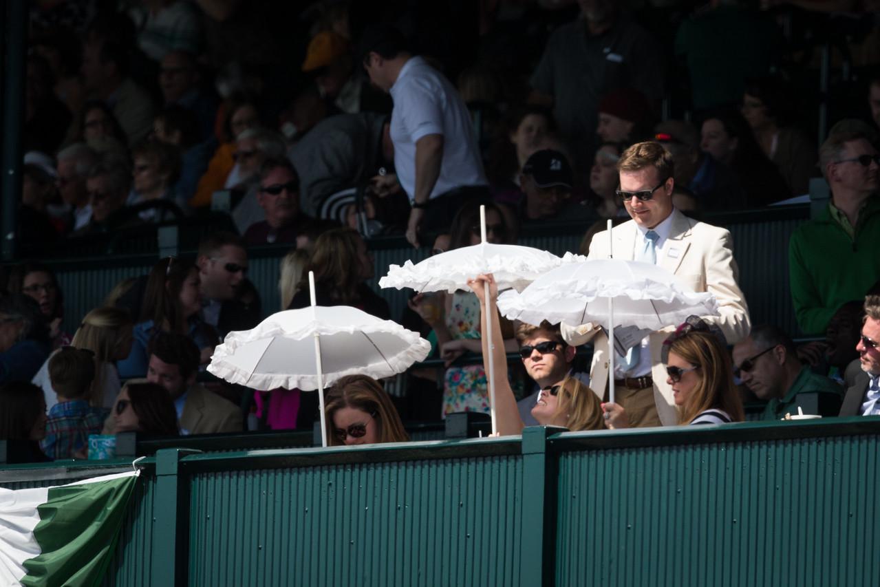 Girls their parasols at Keeneland.