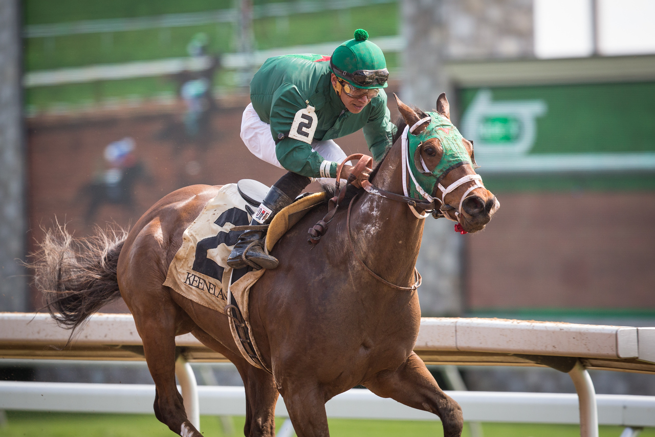 Jasizzle in an AOC at Keeneland on 4.18.2015.