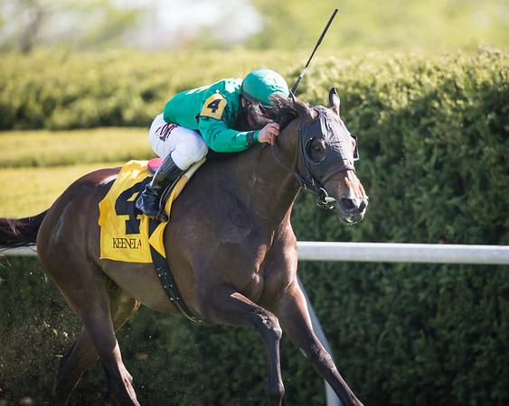 Ball Dancing (Exchange Rate) wins the Jenny Wiley (G1) at Keeneland on 4.11.2015. Javier Castellano up, Chad Brown trainer, W.S. Farish and Steve Mooney owners.