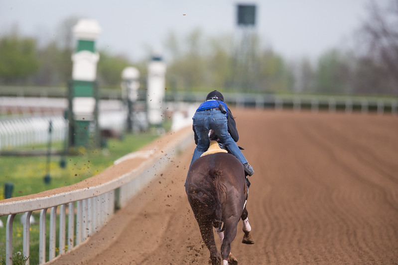 Carpe Diem works at keeneland on 4.18.2015.