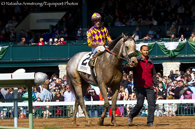 Kobe's Back (Flatter) Gary Stevens up, wins the Gr.3 Commonwealth Stakes at Keeneland on 4.4.15 Trainer: Peter Eurton   Owner: C R K Stable