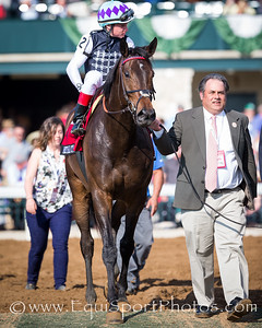 Miss Temple City (Temple City) wins the Makers 46 Mile at Keeneland on 4.15.2016. Dayden Van Dyke up, Graham Motion trainer, Sagamore Farm, Allen Rosenblum and The Club Racing owners.