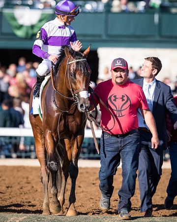 Irap (Tiznow) wins the Bluegrass Stakes at Keeneland on 4.8.2017. Julien Leparoux up, Doug O'Neill trainer, Paul Reddam owner.