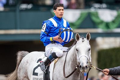 Almithmaar (#2, Tapit), Jose Ortix up, wins a Maiden at Keeneland. Shadwell Stable, Owner. Kiaran P. McLaughlin, Trainer.