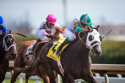 Warrior's Club (Warrior's Reward) wins the Commonwealth (G3) at Keeneland on 4.7.2018. Luis Contreras up, D. Wayne Lukas trainer, Churchill downs Racing Club owners.