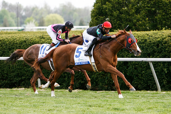 Dancing Forever (Rahy), Rene Douglas up, wins the Fifth Third South Elkhorn Stakes at Keeneland 4.25.2008 (EquiSport Photos)
