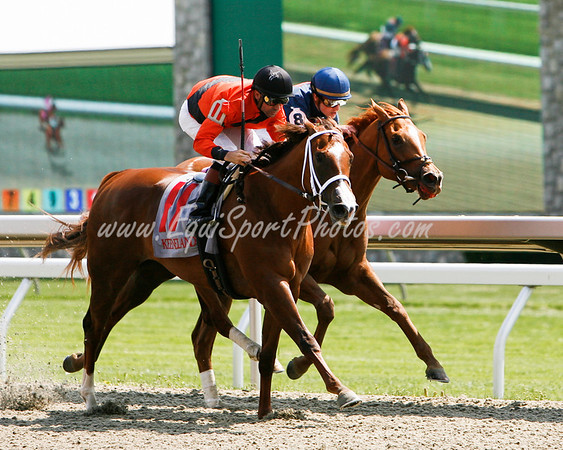 Alluring Tune (Unbridle's Song), Kent Desormeaux up, breaks Maiden at Keeneland 4.25.2008 (EquiSport Photos)