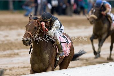 Mine That Bird (Birdstone), Calvin Borel up, wins the Kentucky Derby at Churchill Downs 05.02.2009mw (EquiSport Photos)