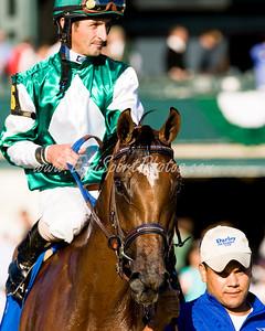 Dream Empress (Bernstein), Robby Albarado up, wins the Darley Alcibiades (G1) at Keeneland 10.03.2008mw (Horse Racing Photos by EquiSport Photos)