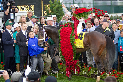 Super Saver (Maria's Mon), Calvin Borel wins the Kentucky Derby at Churchill Downs 05.01.10