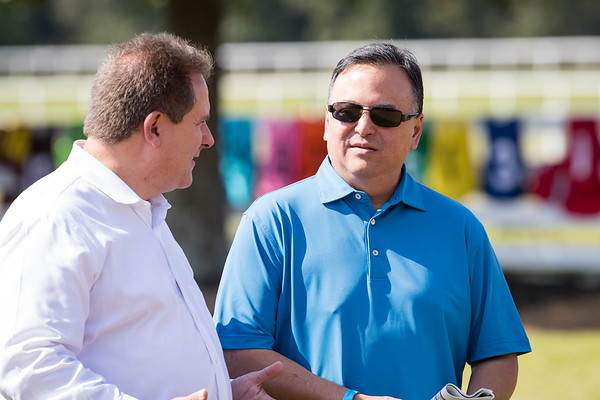 Mike Maker & Michael Hui at Ky. Downs 9.09.17.