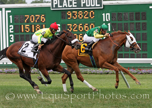 Get Serious (City Zip) and jockey Pablo Fragoso win the Oceanport Stakes at Monmouth Park 8/1/10.