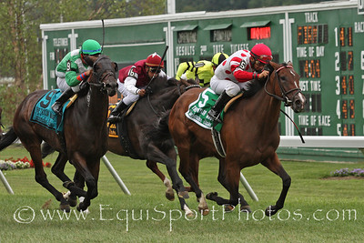 Unbridled Essence (Essence of Dubai) and jockey Paco Lopez win the Taylor Made Matchmaker Stakes at Monmouth Park 8/1/10.