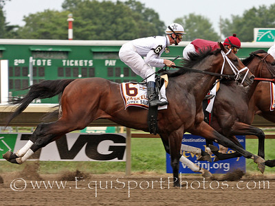 Super Saver and jockey Calvin Borel during the Haskell Invitational at Monmouth Park 8/1/10 JH.