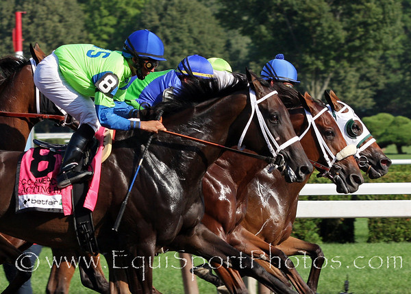 Acting Happy, Biofuel, and Seeking the Title race in the Coaching Club American Oaks at Saratoga Racecourse 7/24/10 JH.