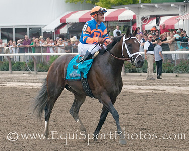Stay Thirsty and Javier Castallano return from win in The Travers Stakes. Photo credit: Bud Morton/EquiSport Photos.