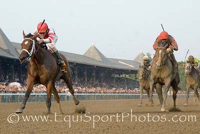 Havre de Grace and Ramon Dominguez win The Woodward Stakes over Flat Out and Alex Solis.