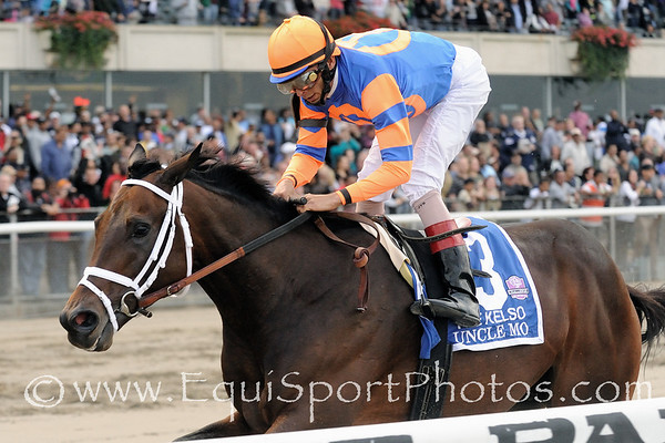 Uncle Mo, John Velazquez up, wins The Kelso Handicap