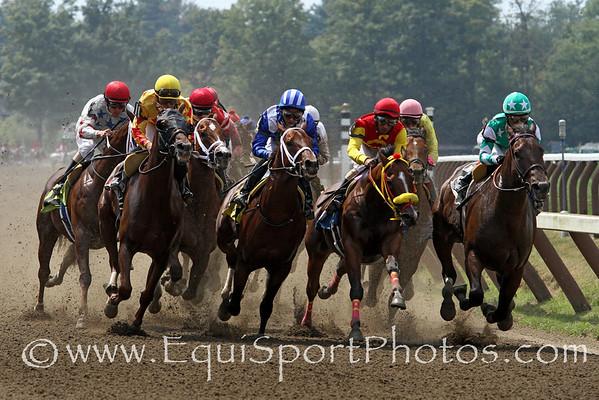 Dirt racing at Saratoga Racecourse 8/25/12.