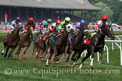 Inner turf racing at Saratoga Racecourse 8/4/12.