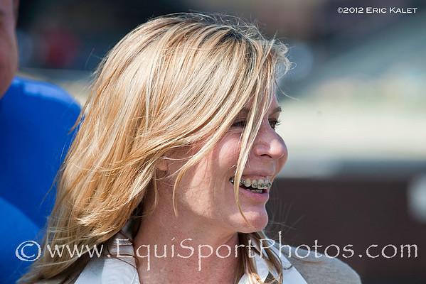 Linda Rice, leading trainer at Aqueduct Racetrack.
