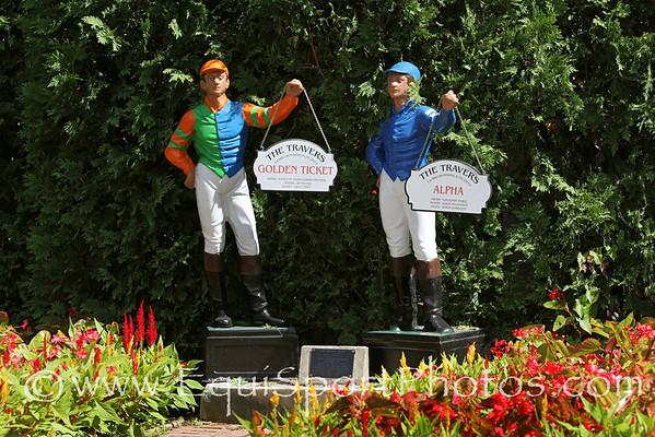 The 2012 twin Travers lawn jockeys at Saratoga Racecourse 7/27/13.
