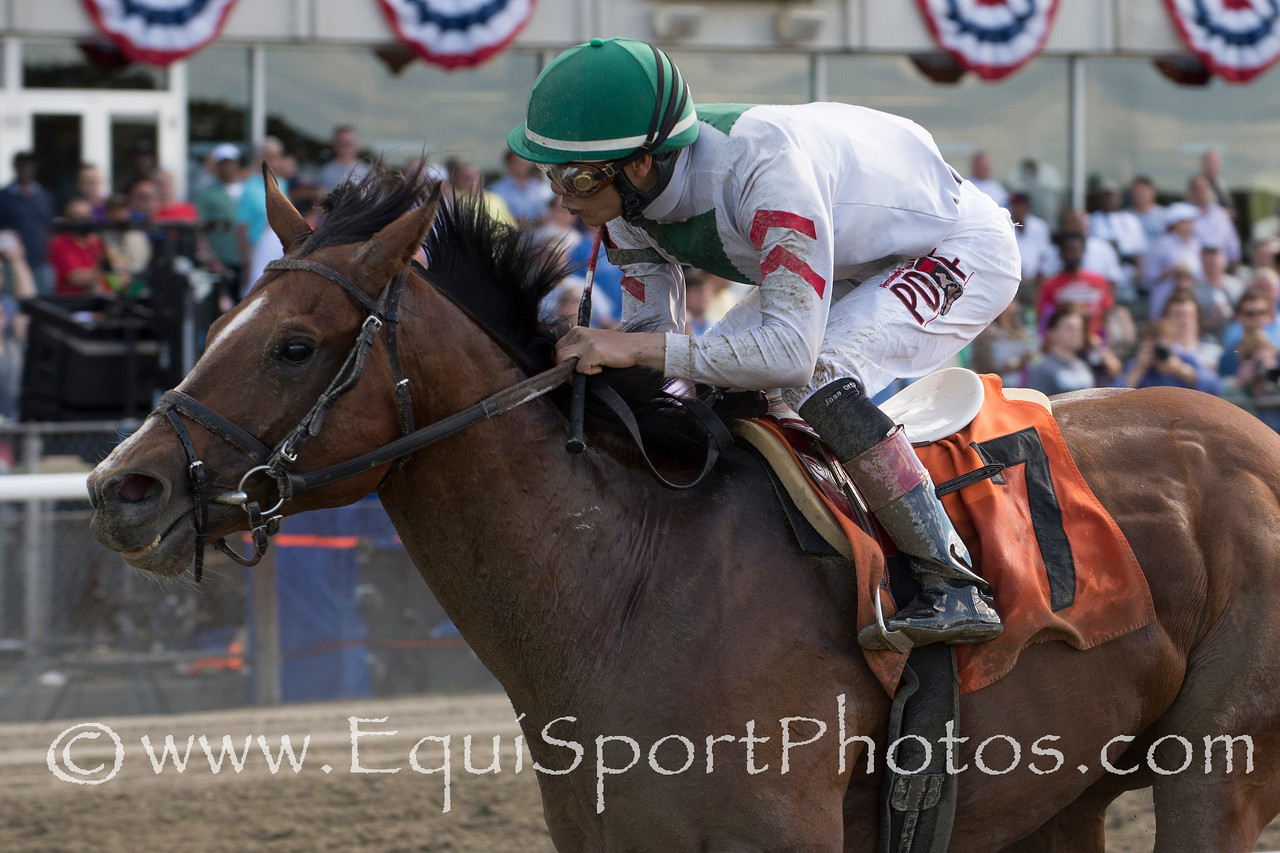 Palace (City Zip); Jose Ortiz up; wins The True North at Belmont Park on 606.14; Linda Rice; trainer. Antonino Muccio owner Bud Morton /Equisport Photos