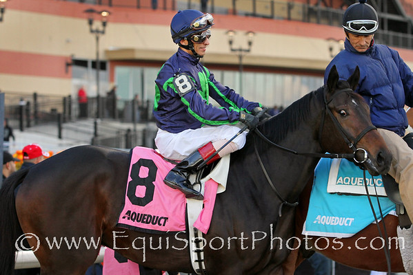 Mo Town (Uncle Mo) and jockey John Velazquez win the Remsen (Gr II) at Aqueduct Racetrack 11/26/16. Trainer: Tony Dutrow. Owner: Mrs. John Magnier, Michael Tabor, Derrick Smith & Team D Stable