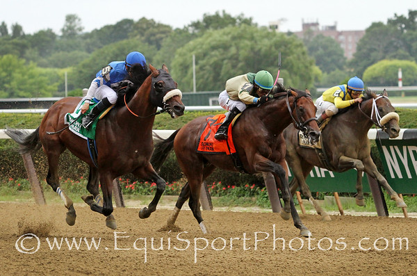 Effinex (Mineshaft) and jockey Mike Smith win the Suburban(Gr II) at Belmont Park 7/9/16. Trainer: Jimmy Jerkens. Owner: Tri-Bone Stables