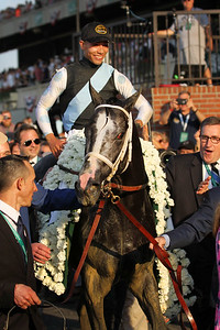 Tapwrit (Tapit) and jockey Jose Ortiz win the Belmont Stakes (Gr I) at Belmont Park 6/10/17. Trainer: Todd Pletcher. Owner: Eclipse Thoroughbred Partners & Robert LaPenta & Bridlewood Farm