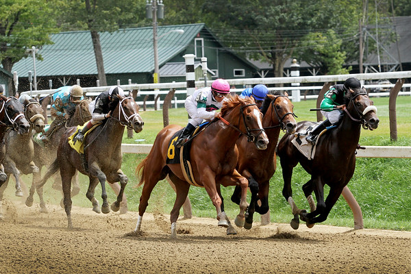 Racing at Saratoga 8/5/17.
