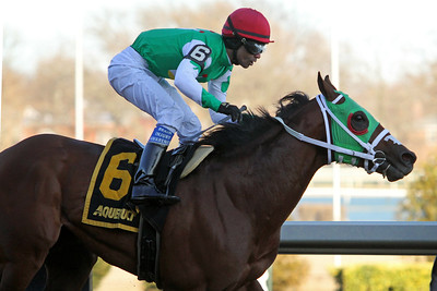 Diamond King (Quality Road) and jockey Kendrick Carmouche win the Stymie at Aqueduct Racetrack 3/7/20. Trainer: John Servis. Owners: Cash is King Stable & LC Racing LLC
