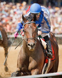 Blame (Arch), Garrett Gomez up, wins the William Donald Schaefer S. at Pimlico Park 5.15.2010