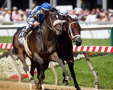Apart (Flatter) wins the William Donald Schaeffer Memorial Stakes (G3) at Pimlico on 5.21.2011.  Garrett Gomez up, Al Stall trainer, Del Dilschneider owner.